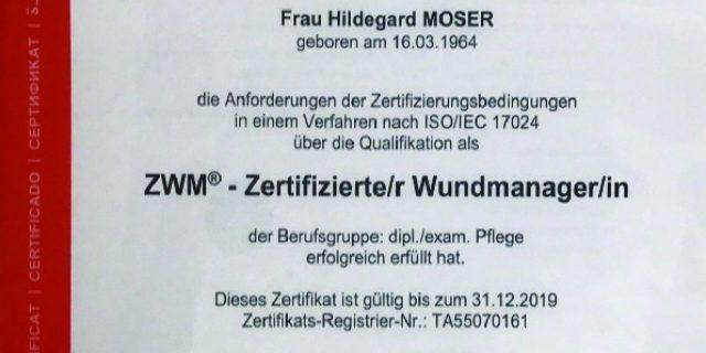 TUV Zertifikat 2017-2019